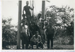 4. Laying of the poles of the electric light
